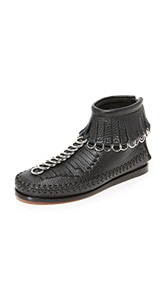 Alexander Wang Montana Chain Booties - Black
