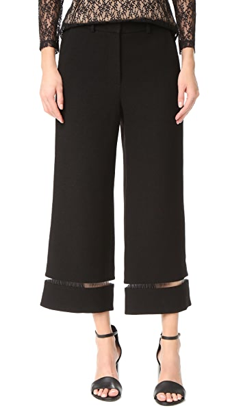 Alexander Wang Cropped Pants with Fishing Line Trim
