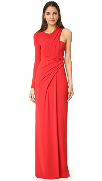 Alexander Wang Asymmetrical Draped One Sleeve Gown