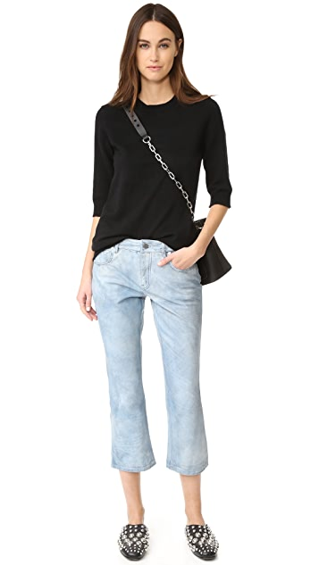 Alexander Wang Slightly Flared Leather Pants