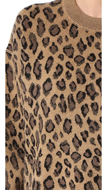 Alexander Wang Crew Neck Leopard Pullover