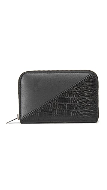 Alexander Wang Mini Dime Patchwork Compact Wallet