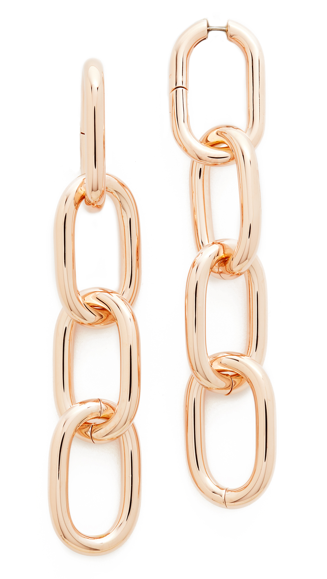 Alexander Wang Four Link Earrings - Rose Gold