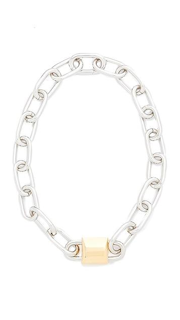 Alexander Wang Double Lock Necklace