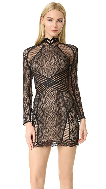 Alexander Wang Lace Rashguard Mini Dress