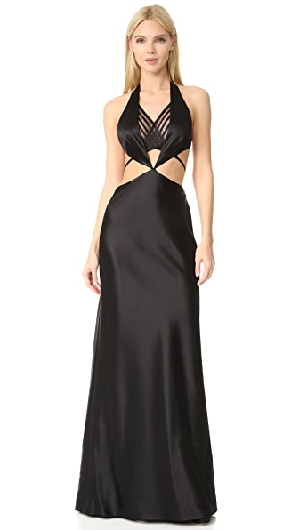 Alexander Wang Open Back Gown with Exposed Bikini