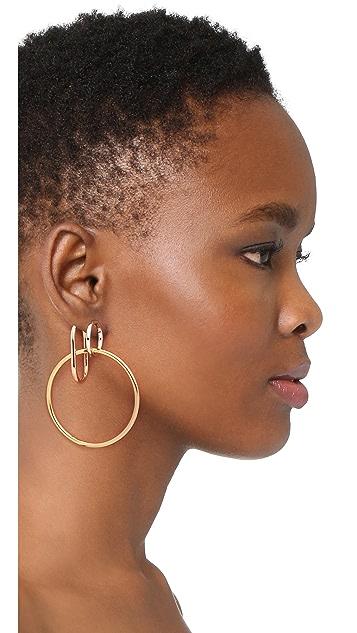 Alexander Wang Triple Ring Earrings