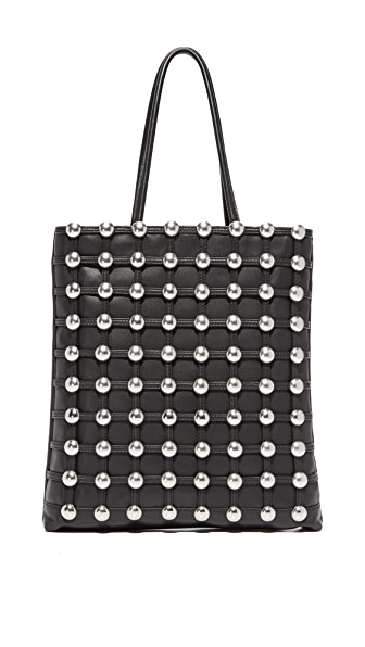 Alexander Wang Dome Stud Cage Shopper Tote - Black