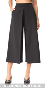 High Waisted Pants with Front Fold Detail Alexander Wang