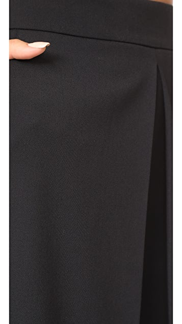 Alexander Wang High Waisted Pants with Front Fold Detail