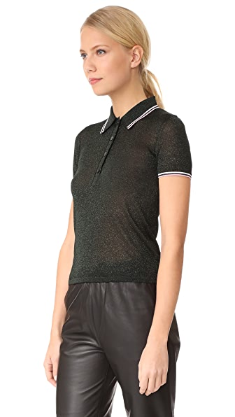 Alexander Wang Polo Lurex Tee - Field