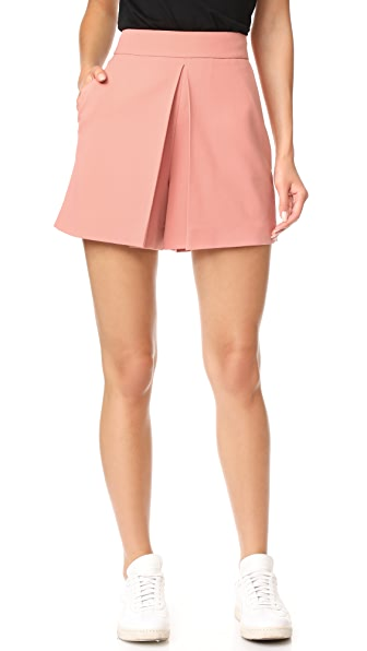 Alexander Wang Cropped Shorts with Fold Front Detail - Petal