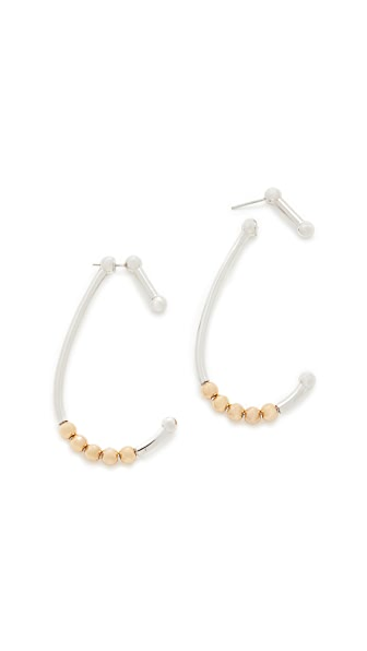 Alexander Wang Shower Curtain Earrings - Rhodium