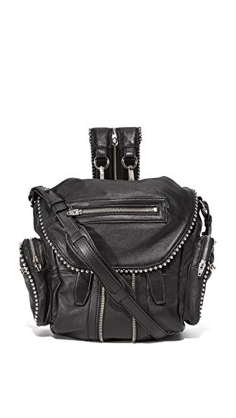 Alexander Wang Ball Stud Mini Marti Backpack In Black