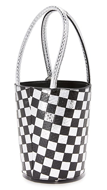 Alexander Wang Checkerboard Roxy Mini Bucket Bag