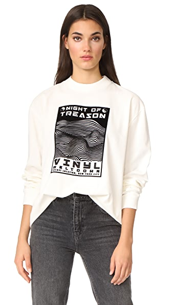 Alexander Wang Boxy Pullover In White
