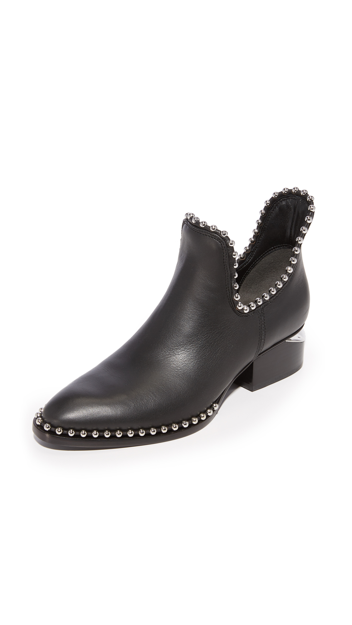 Alexander Wang Kori Cutout Ankle Booties - Black
