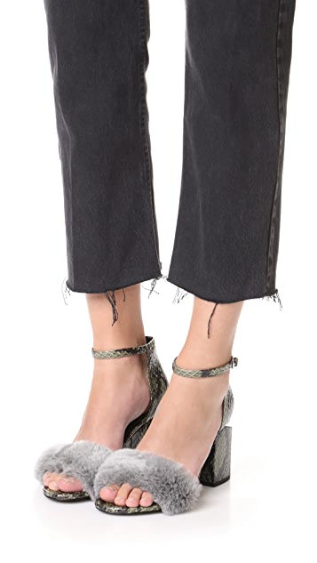 Alexander Wang Abby Ankle Strap Sandals