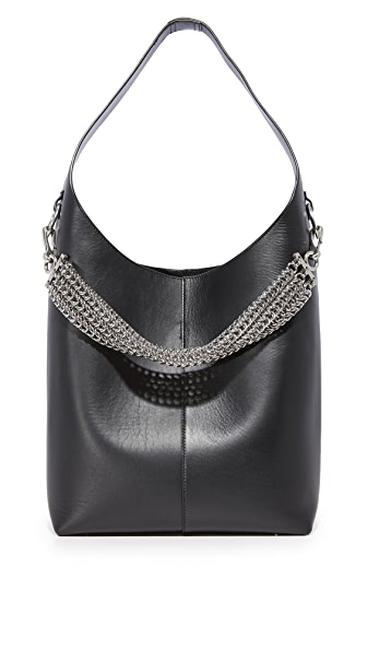 Alexander Wang Genesis Hobo Bag In Black
