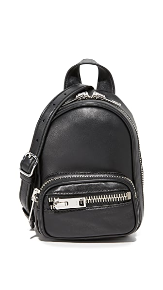 Alexander Wang Attica Soft Mini Backpack Cross Body Bag - Black