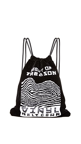 Alexander Wang Primary Drawstring Backpack In Black Multi