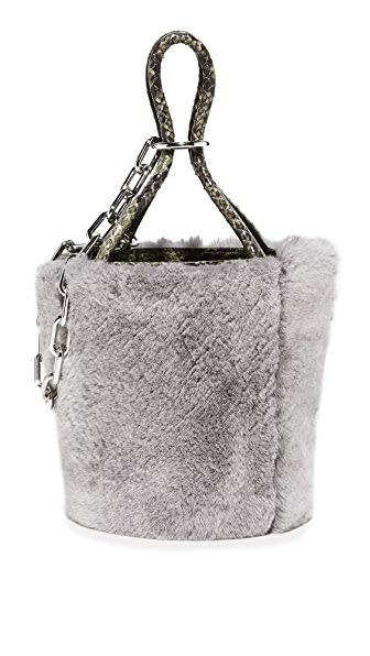 Alexander Wang Roxy Mini Bucket Bag In Grey Melange