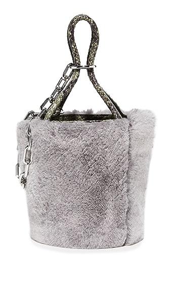 Alexander Wang Roxy Mini Bucket Bag In Grey Melange
