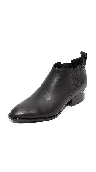 Alexander Wang Kori Ankle Booties - Black/Rhodium