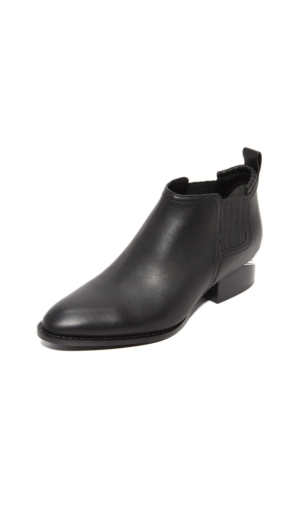 Alexander Wang Kori Ankle Booties - Black/Rhodium