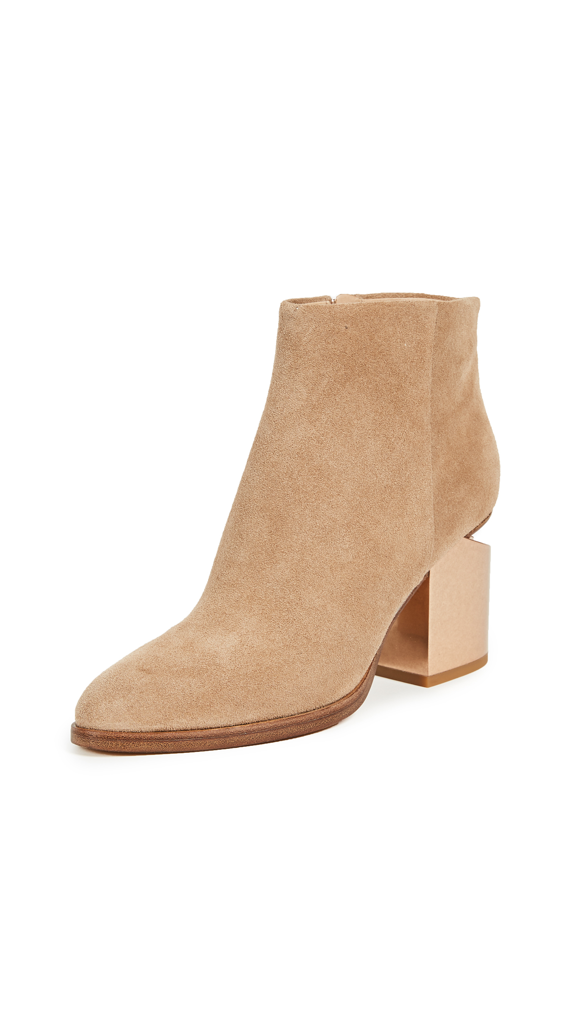Alexander Wang Gabi Metal Heel Booties - Clay