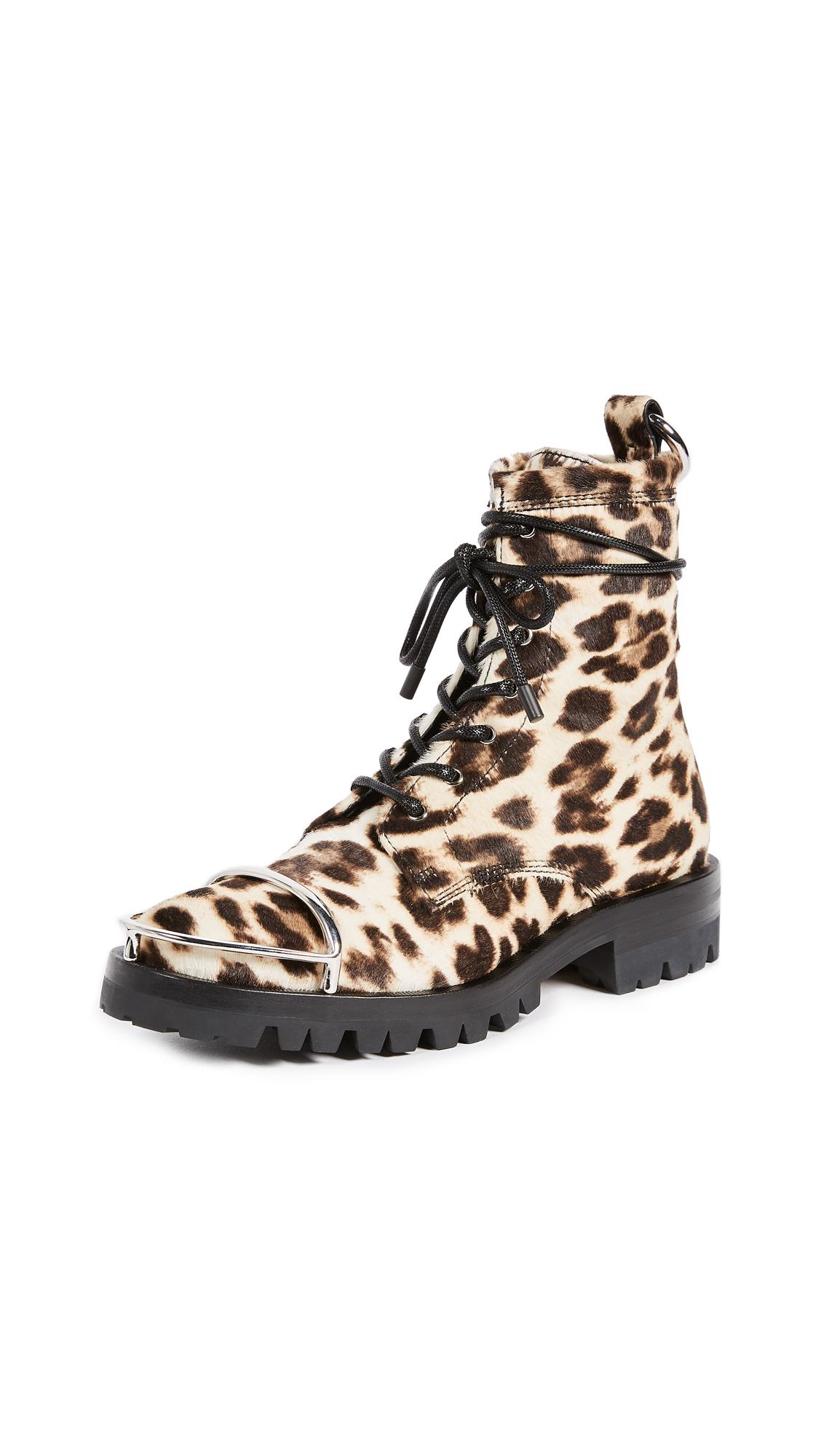 Alexander Wang Lyndon Combat Boots - Leopard