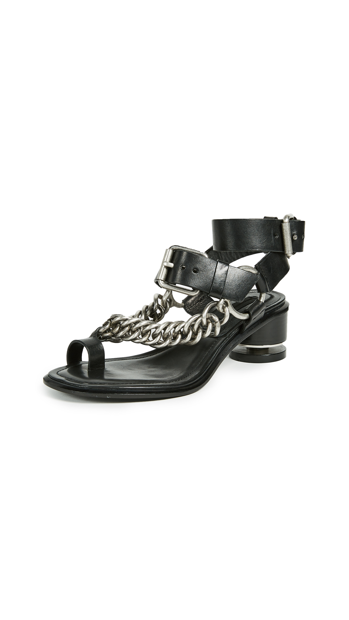 Alexander Wang Jada Chain Sandals - Black