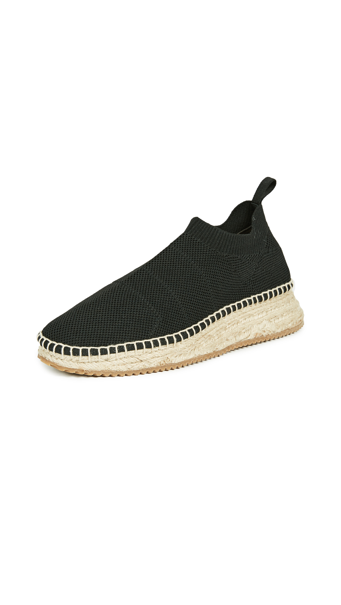 Alexander Wang Dylan Low Knit Espadrille Runners - Black