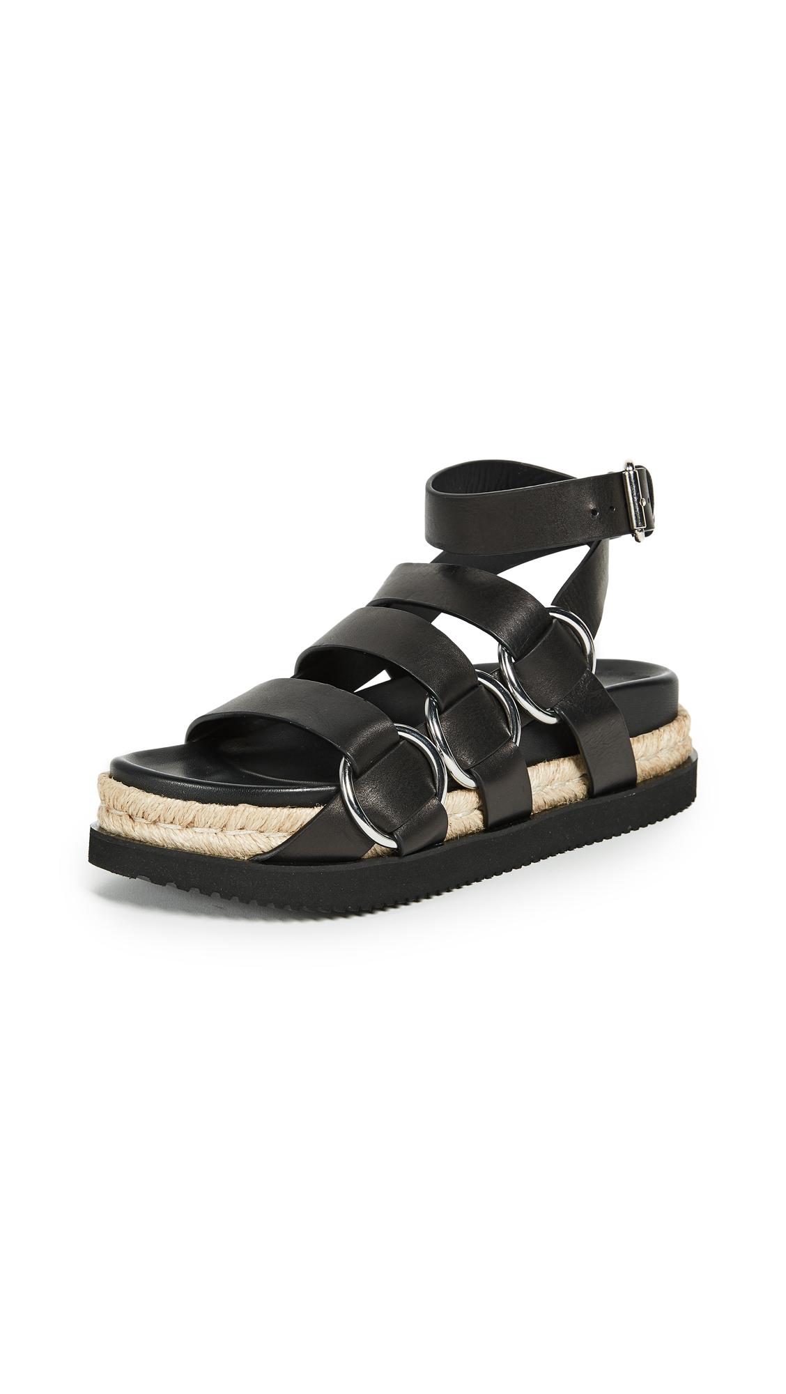 Alexander Wang Bess Platform Sandals - Black