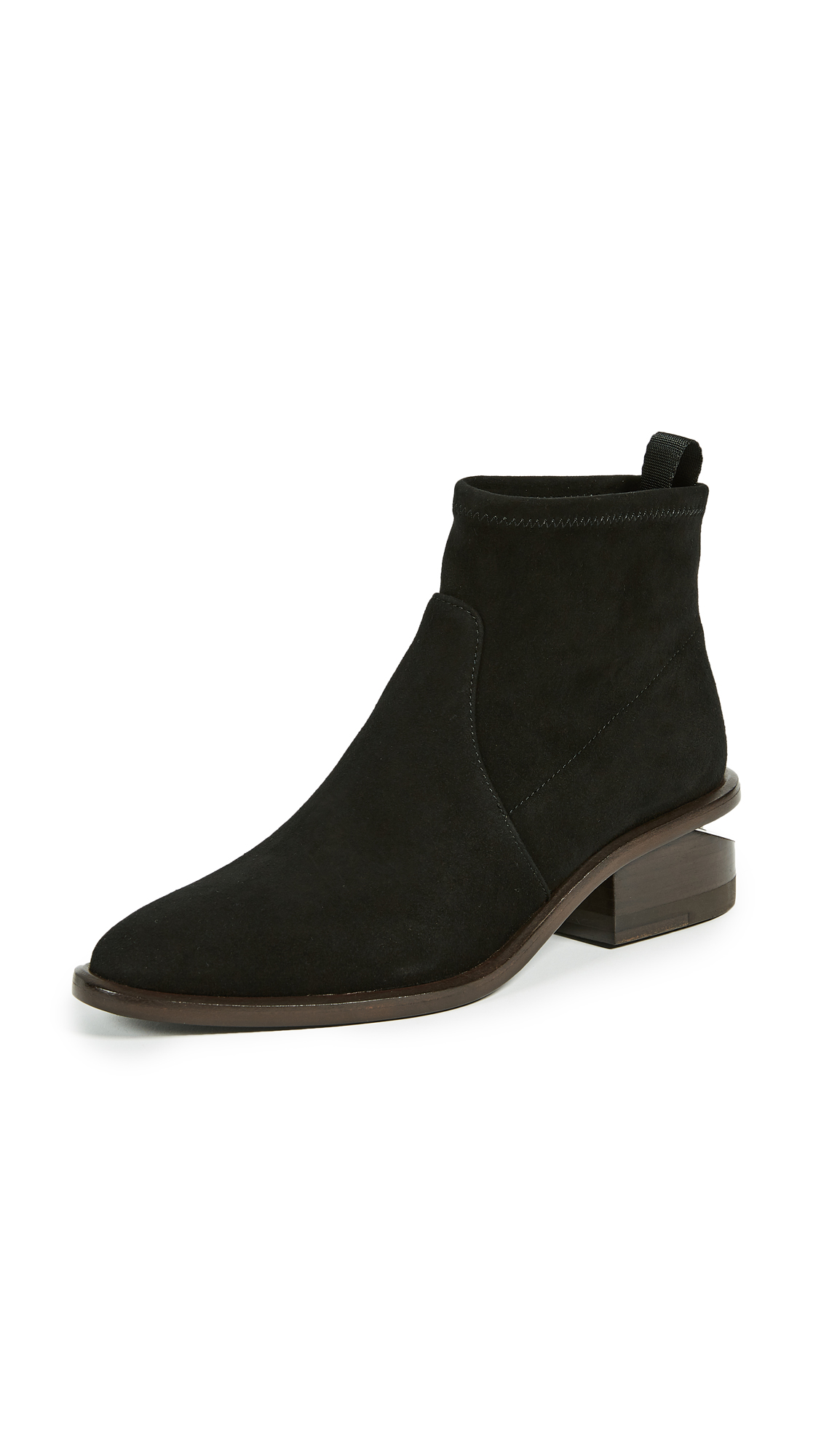 Alexander Wang Kori Stretch Booties - Black