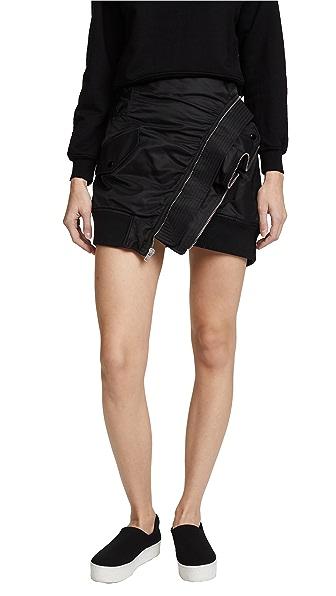 Alexander Wang Deconstructed Bomber Miniskirt at Shopbop