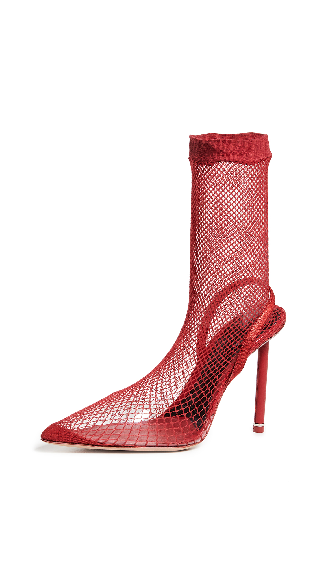 Alexander Wang Caden High Heel Booties - Red
