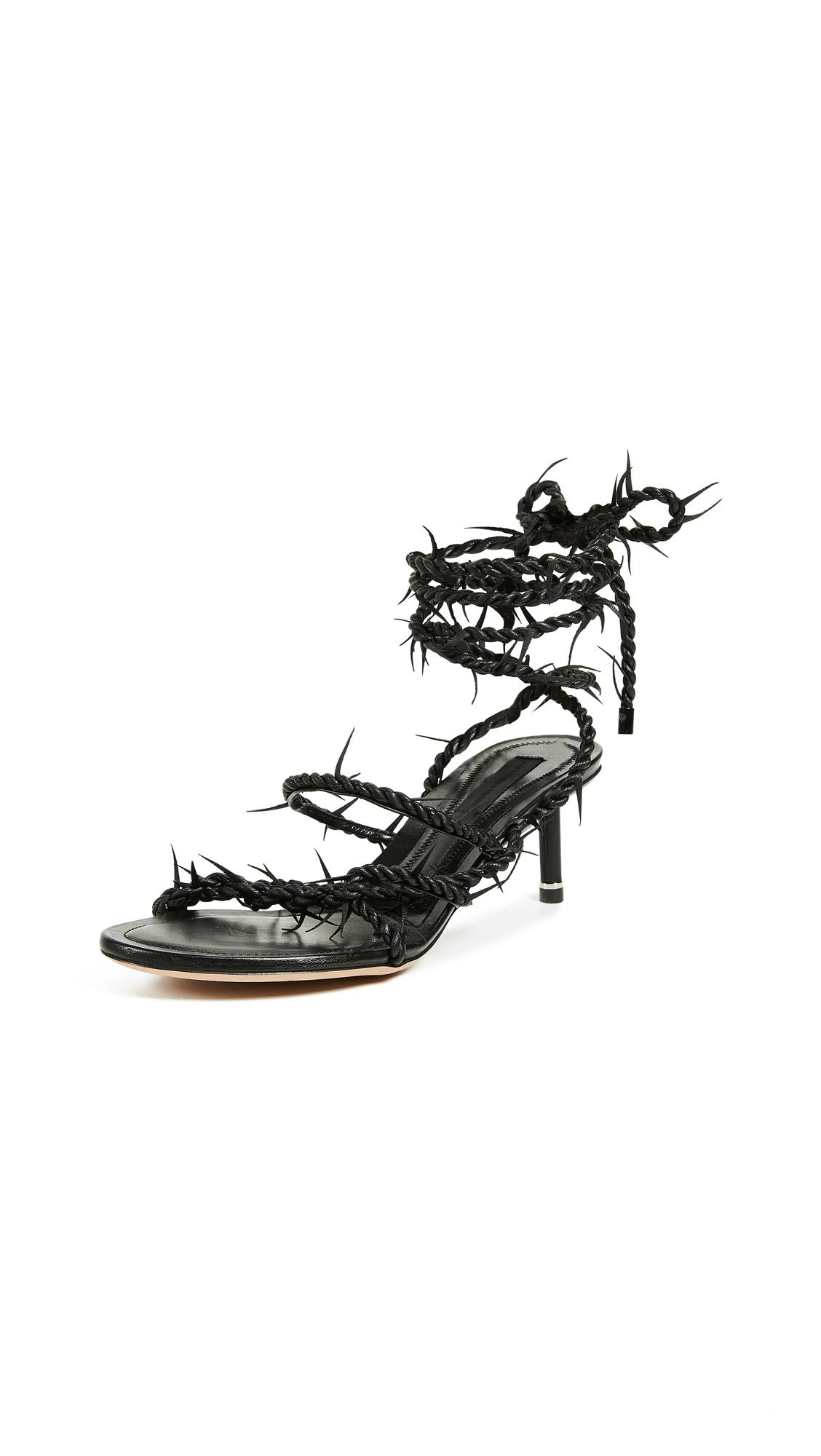 Alexander Wang Kiki Mid Heel Sandals - Black