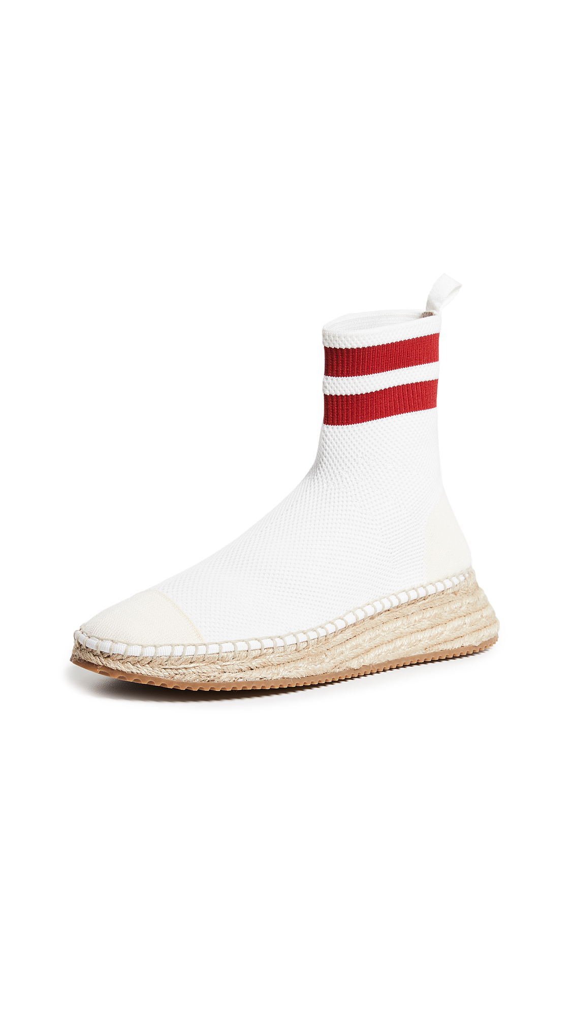 Alexander Wang Dylan Knit Espadrilles - White/Red