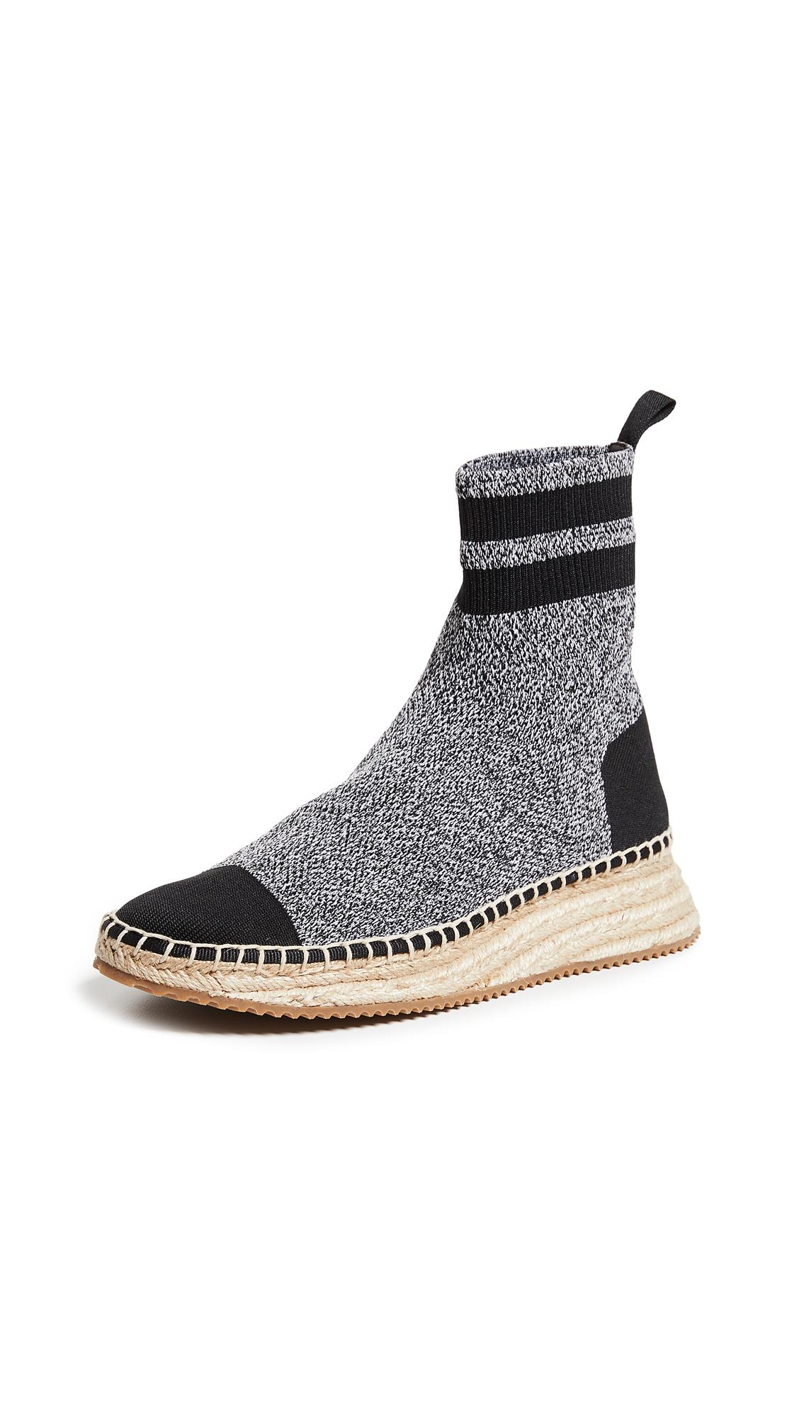 Alexander Wang Dylan Knit Espadrilles - Black/Grey