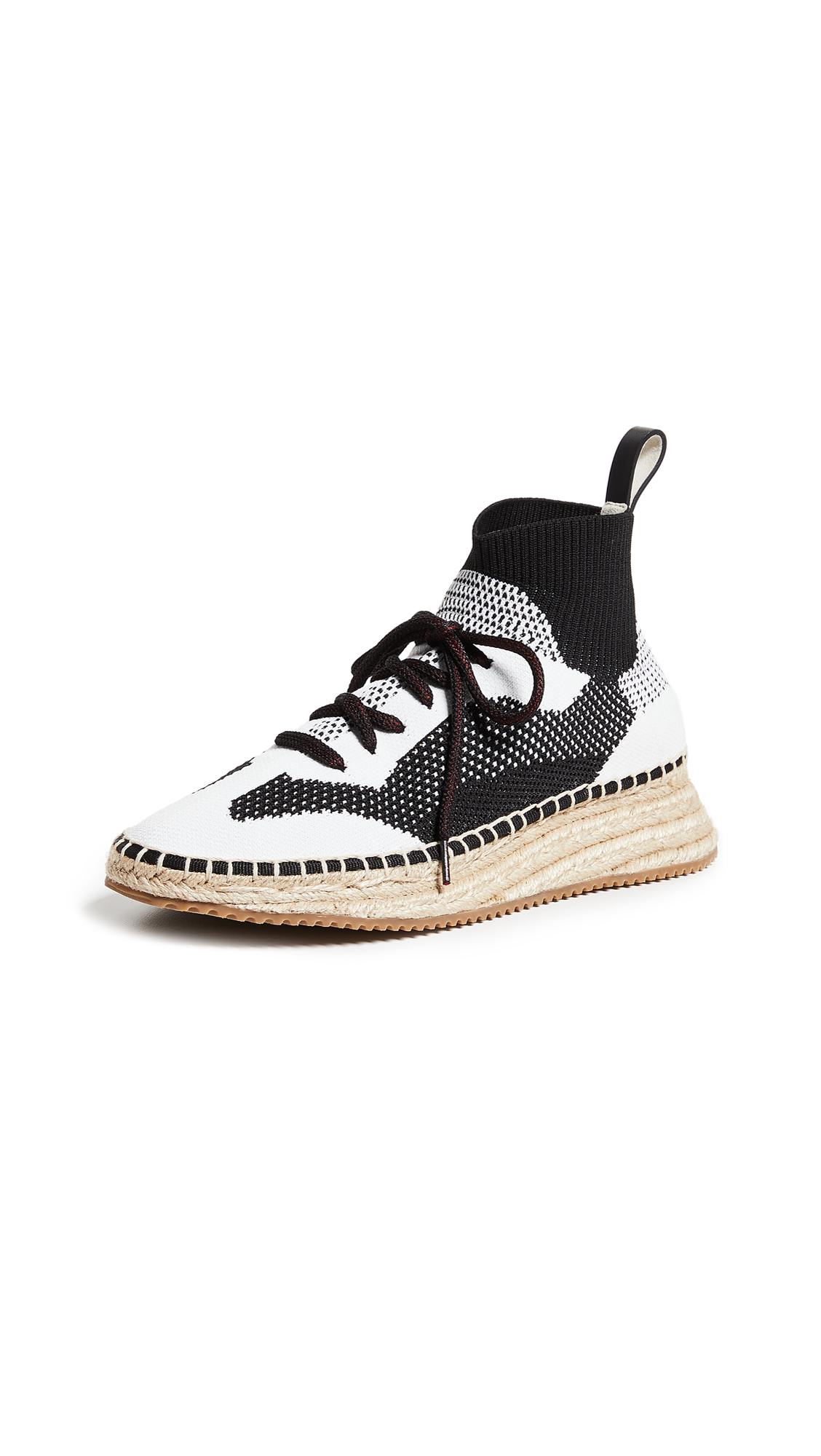Alexander Wang Dakota Knit Espadrilles - Black/White/Grey