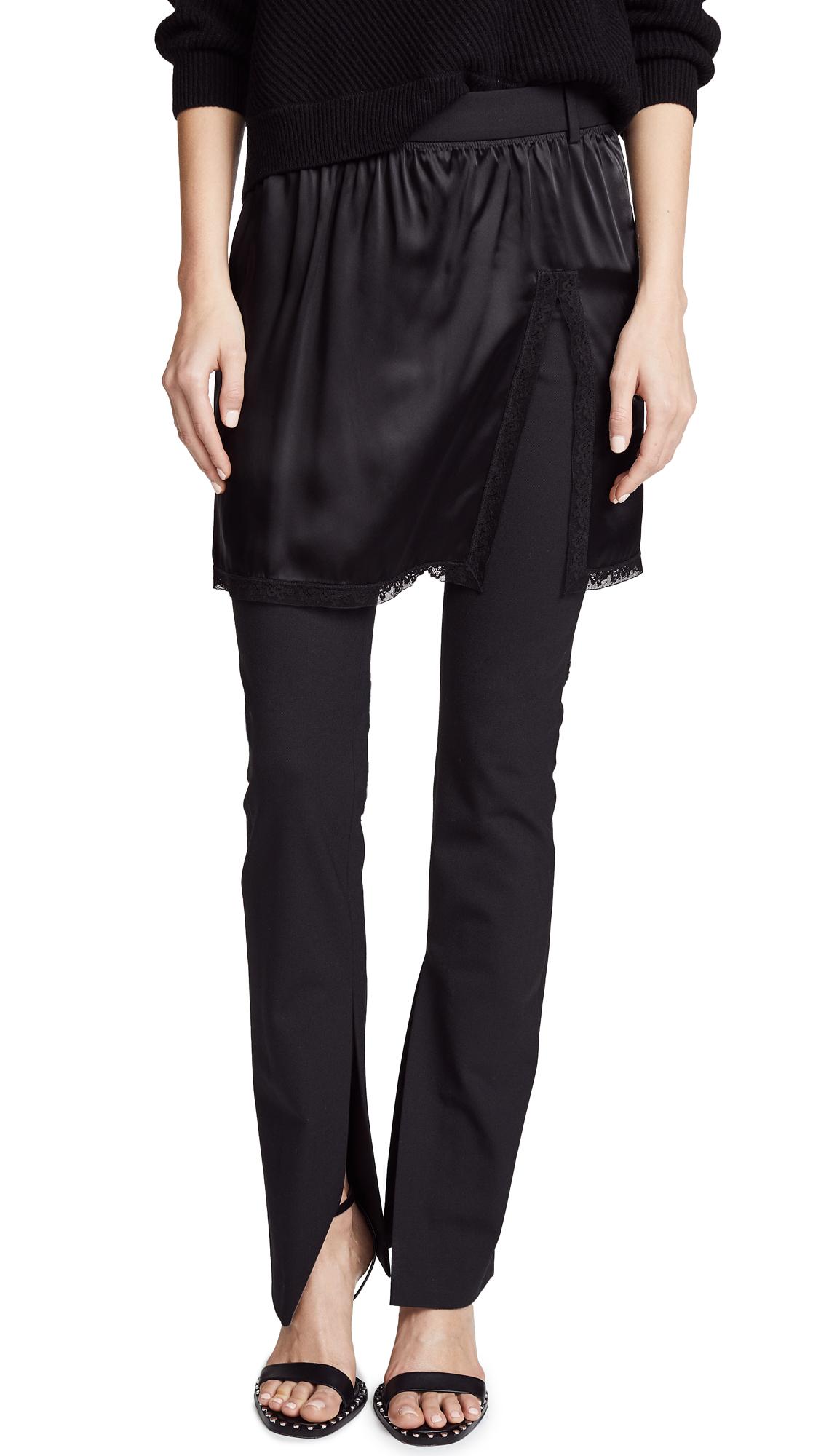 Alexander Wang Hybrid Pants with Lace Border