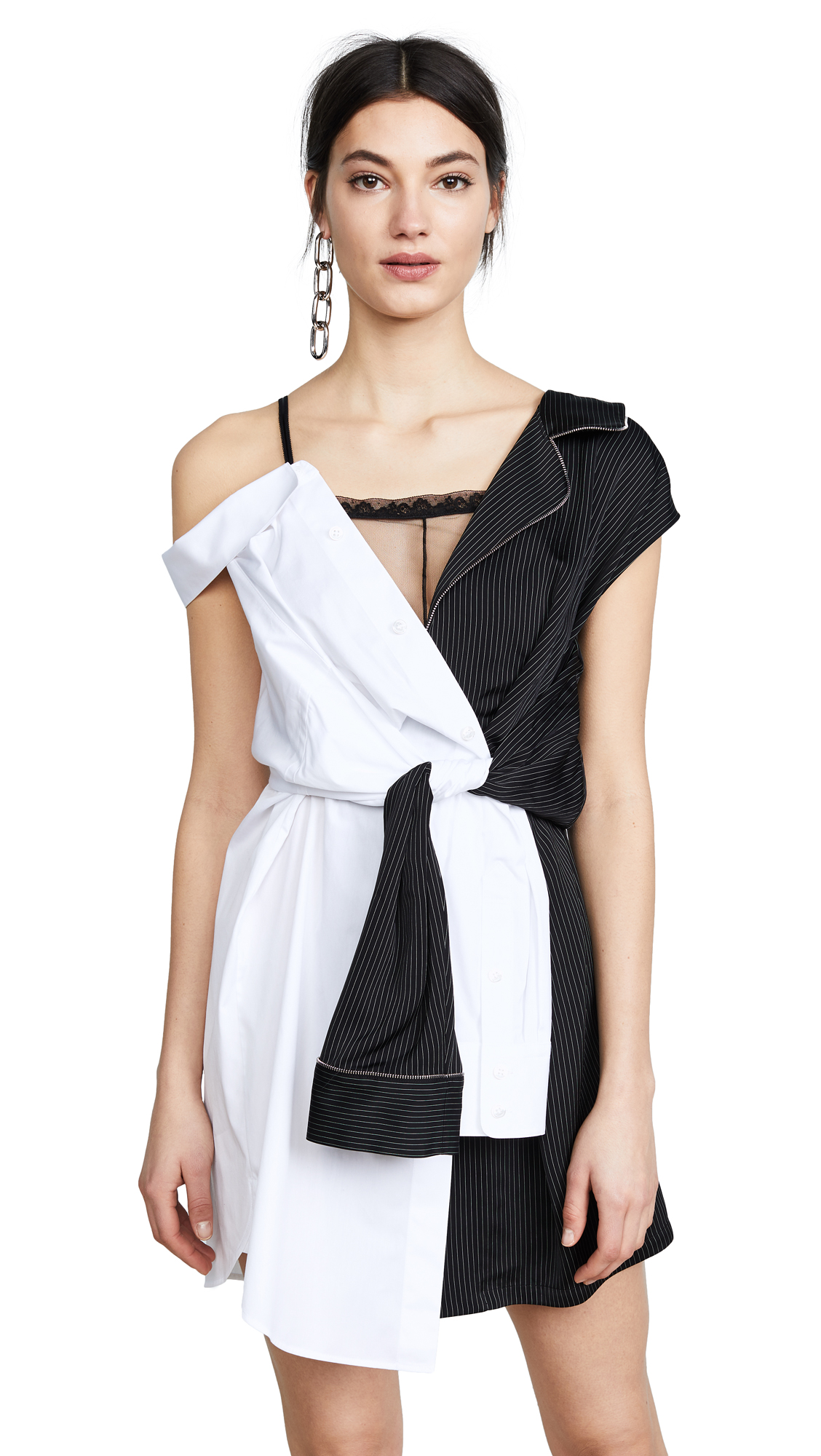 Alexander Wang Pajama Dress In Black