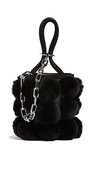 Alexander Wang Roxy Cage Mini Bucket Bag In Black