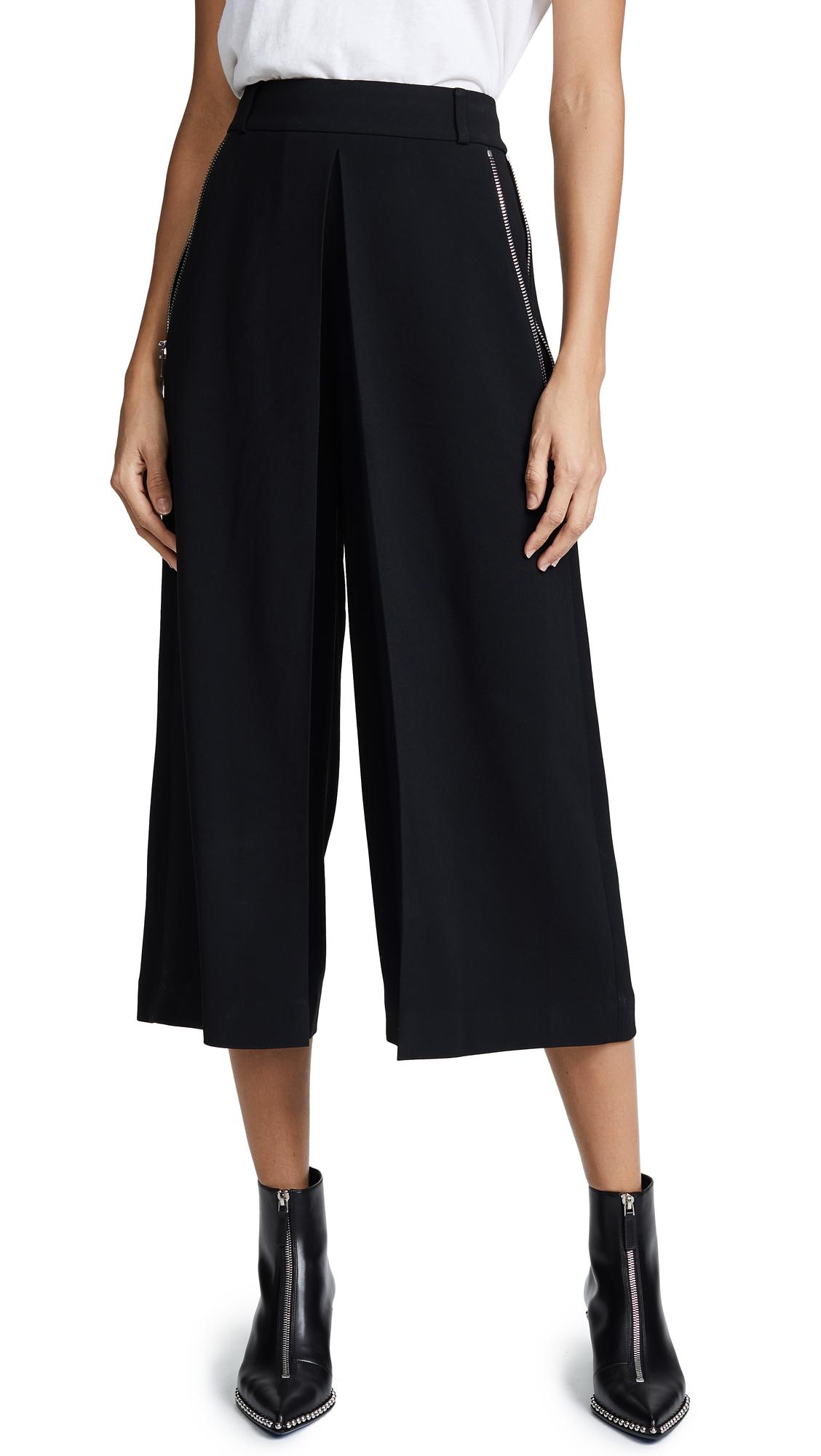 Alexander Wang High Waist Trousers With Zipper Detail