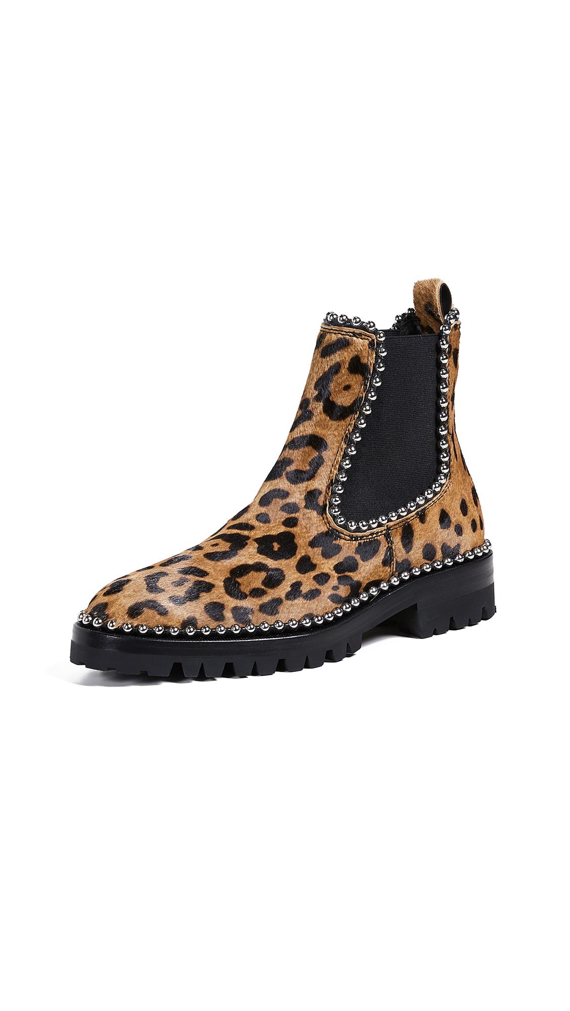 Alexander Wang Spencer Ball Chain Chelsea Boots - Leopard