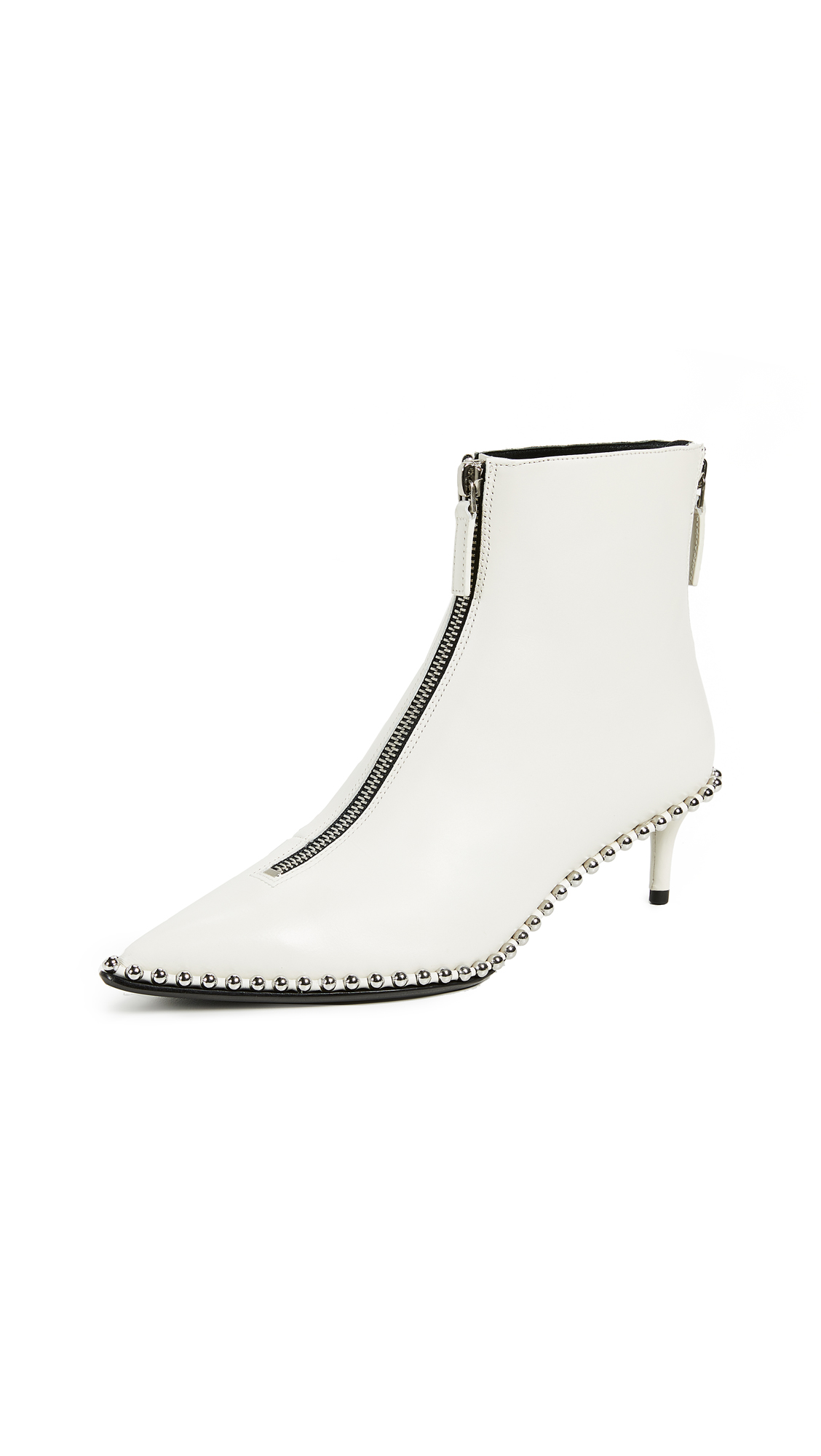 Alexander Wang Eri Low Heel Booties - White