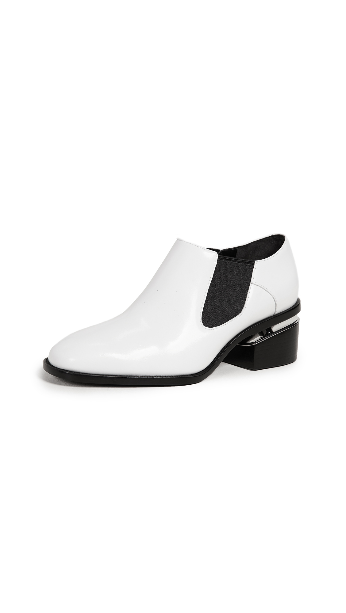 Alexander Wang Jae Booties - Optic White