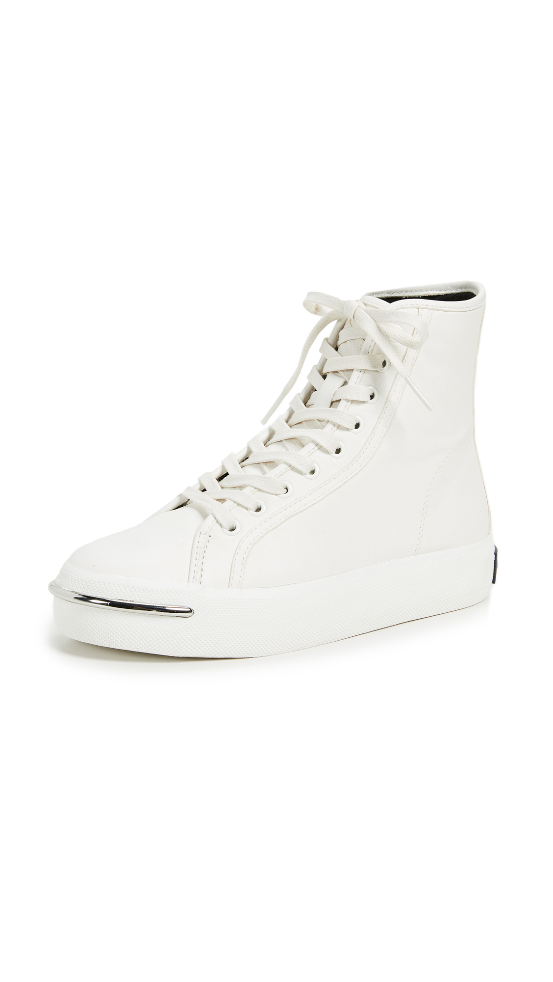 Pia Leather Sneakers - White Size 9.5