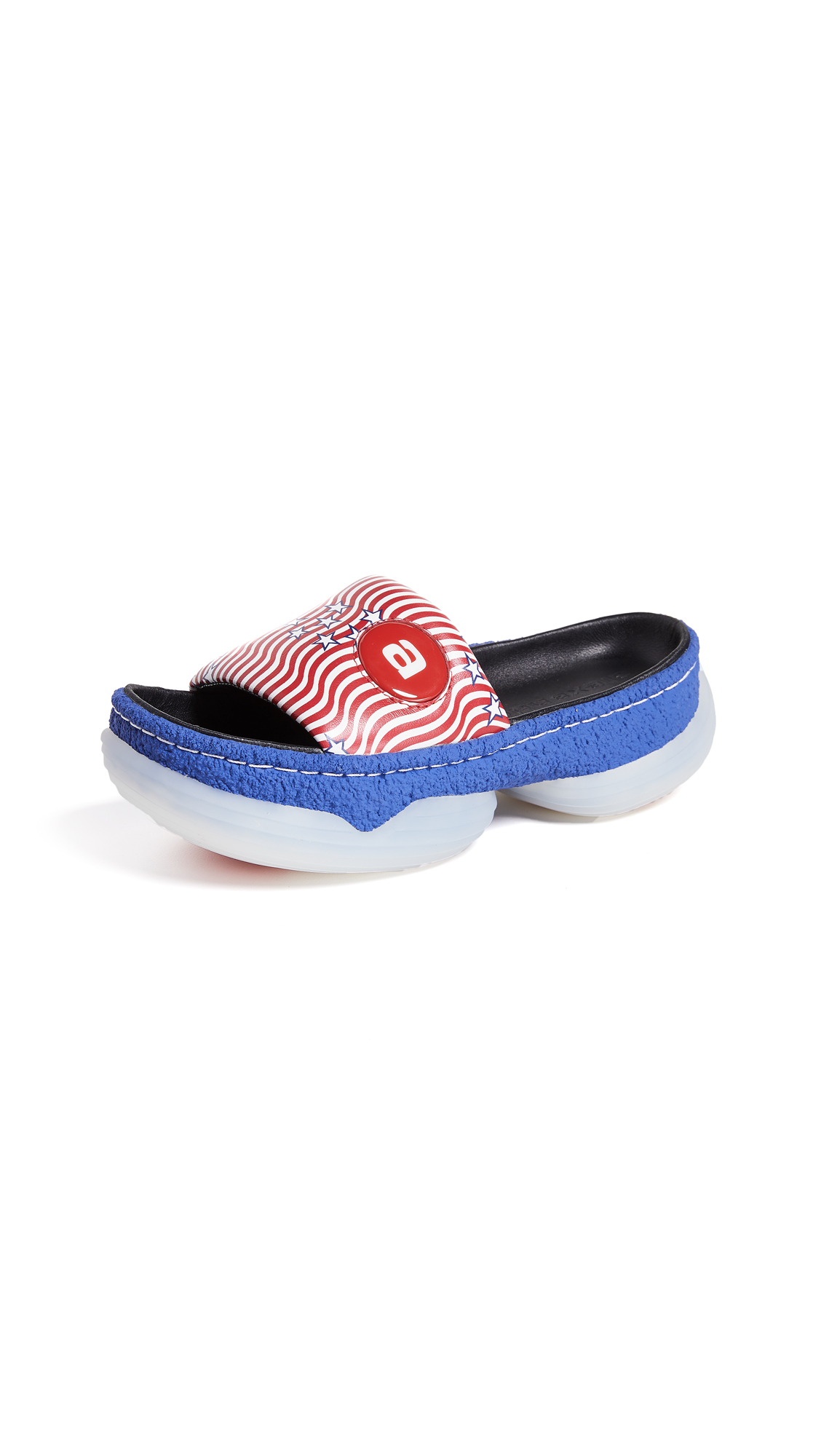 Alexander Wang A1 Platform Slides - Red White Blue